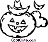Vector Clipart illustration  of a jack-o-lantern
