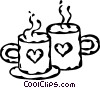 Valentine's day coffee Vector Clip Art picture