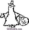 Vector Clip Art picture  of a ghost