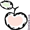 Vector Clipart image  of an apple