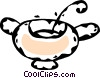 sugar bowl Vector Clip Art picture