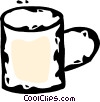 Vector Clip Art graphic  of a coffee mug