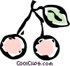 Vector Clip Art image  of a cherries