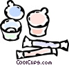 Vector Clip Art image  of an assorted confectionary