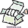 box of tea Vector Clip Art picture