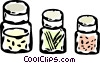 jars of spice Vector Clip Art picture