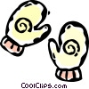 winter mitts Vector Clipart picture