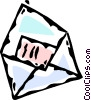Vector Clipart picture  of a envelope with a letter