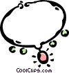Vector Clip Art graphic  of a necklace