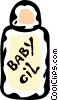 Vector Clipart graphic  of a baby oil bottle