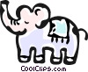 Vector Clipart image  of a toy elephant