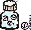 Vector Clip Art graphic  of a pill bottle