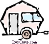 Vector Clipart illustration  of a camping trailer