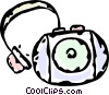 portable CD player Vector Clipart illustration