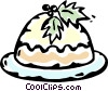 Christmas dessert Vector Clipart picture