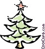 Christmas tree Vector Clipart graphic