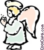 Vector Clipart picture  of an angel
