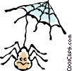 spider and web Vector Clip Art picture