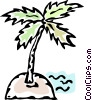 Vector Clip Art graphic  of a island