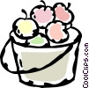 Vector Clip Art picture  of a basket of apples