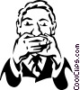 Vector Clipart picture  of a speak no evil