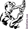Plumbers Vector Clip Art graphic
