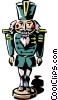 Vector Clip Art graphic  of a toy soldier