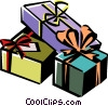Vector Clipart graphic  of a Christmas presents/gifts