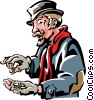 Vector Clipart illustration  of a Scrooge