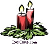 Vector Clip Art picture  of a Christmas candles