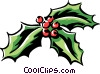 Vector Clipart graphic  of a holly and ivy
