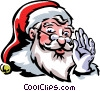 Vector Clipart picture  of a Santa