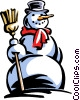 Vector Clipart picture  of a snowman
