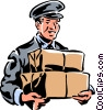Vector Clipart illustration  of a delivery man