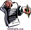contract ready to be signed Vector Clip Art graphic