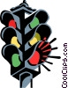 Vector Clip Art image  of a traffic light