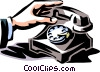 vintage telephone Vector Clipart picture