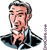 Vector Clip Art graphic  of a man thinking