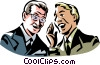 two men talking Vector Clip Art image