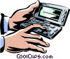 computer day timer Vector Clip Art picture