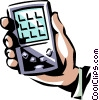 Vector Clip Art graphic  of a Hand held computer day timer