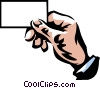 Vector Clipart illustration  of a hand holding a business card