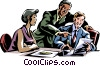 Vector Clip Art picture  of a business meeting