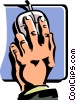Vector Clip Art picture  of a hand on a computer mouse