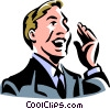 Vector Clip Art picture  of a businessman