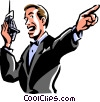 Vector Clip Art image  of a boxing announcer