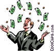 Vector Clipart picture  of a money windfall