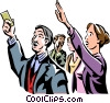 Vector Clipart graphic  of a people at the stock market