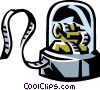 Vector Clip Art graphic  of a stock ticker