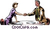 business people shaking hands Vector Clipart picture